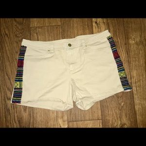 Tan shorts with Baja Inca side patch